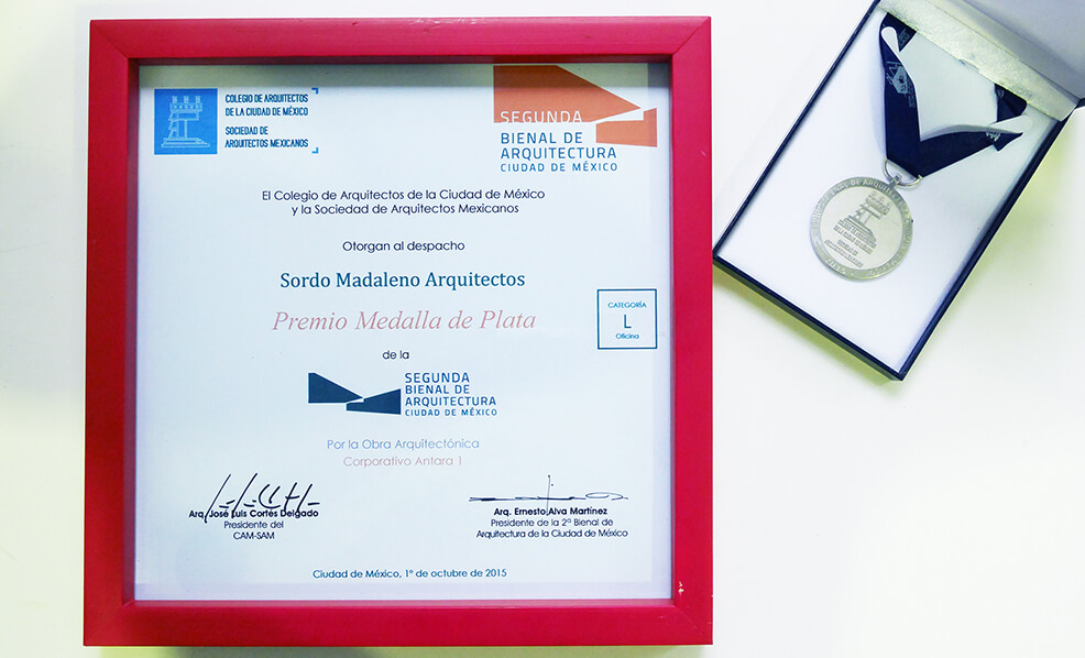 Silver Medal in the Architecture Biennale of Mexico City