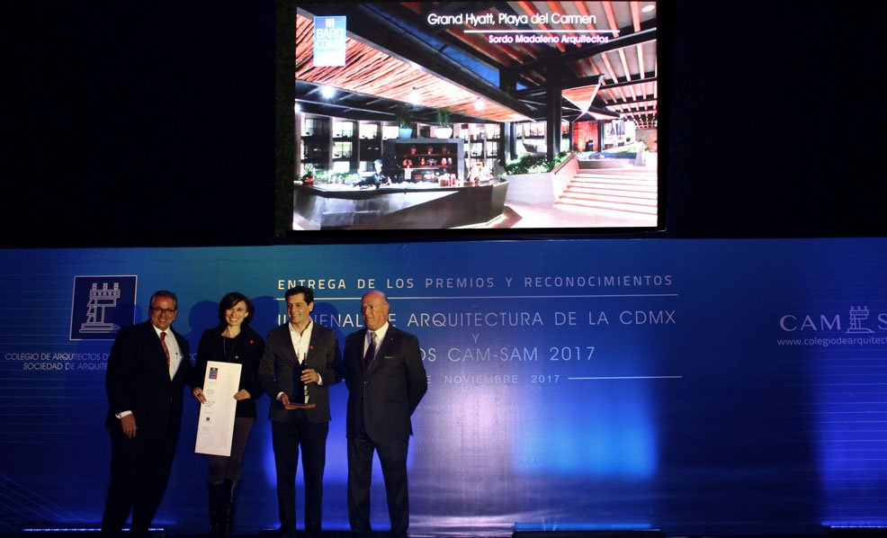 Grand Hyatt Playa del Carmen wins at the Mexico City Architecture Biennial